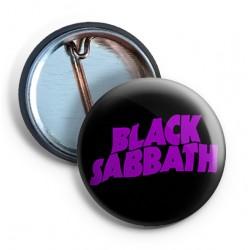 Black Sabbath Logo PIN purple
