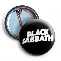 Black Sabbath Logo PIN white
