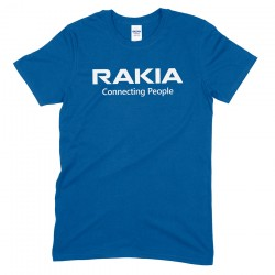 RAKIA Conneting People Blue T-Shirt