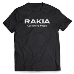 RAKIA Conneting People Svart T-Shirt
