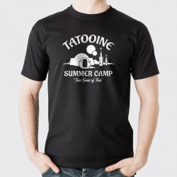 Tatooine Summer Camp Two Suns of Fun T-Shirt Vit