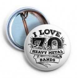 I love 70s Heavy Metal bands Pin